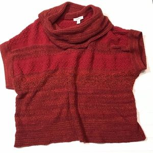 Coldwater Creek | Oversized Cowl Neck Sweater Red
